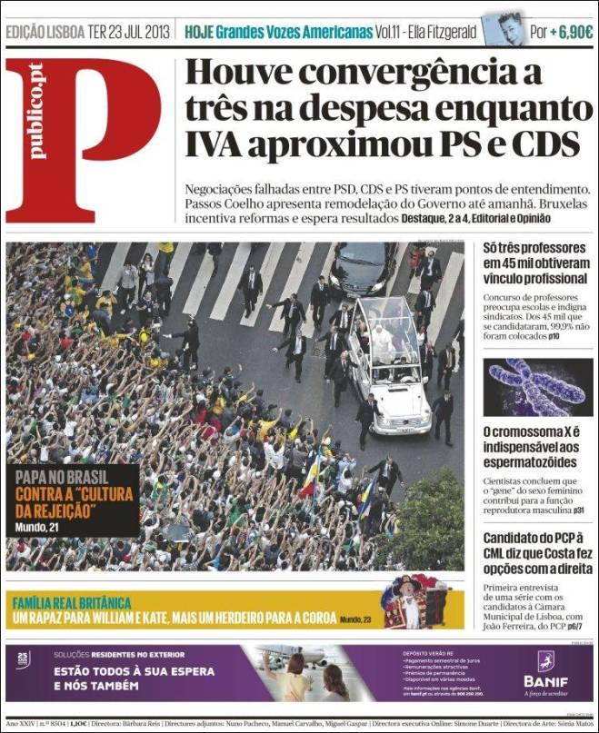 publico. Portugal contra rejeição