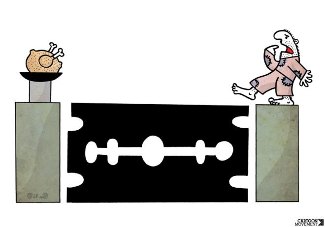 Vida de jornalista brasileiro. Ilustração Abdallah
