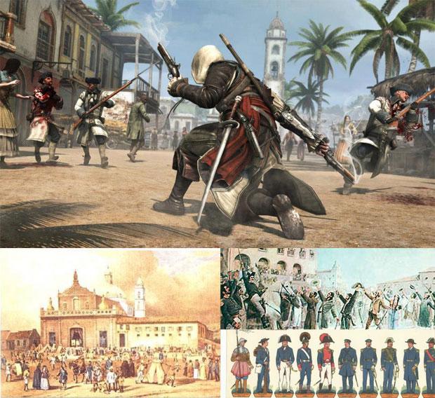 Similaridades com cenários brasileiros em Assassin's Creed 4 (Foto: Reprodução/Enciclopédia Nordeste)
