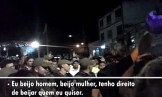 Três manifestantes foram detidos por policiais militares a mando do deputado-pastor