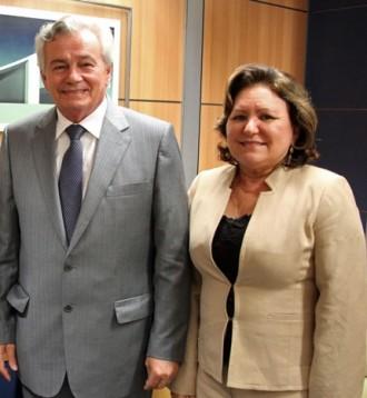 Deputado Arnalo Melo e a esposa Valderês Melo