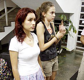 Yunka (a esq.) e Joana relataram as agressões. Foto Reginaldo Pupo