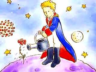 Regando flores pequeno príncipe
