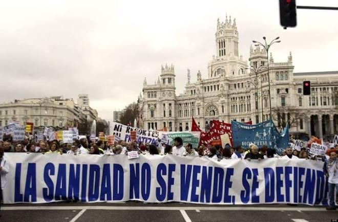 Protesto de médicos na Espanha