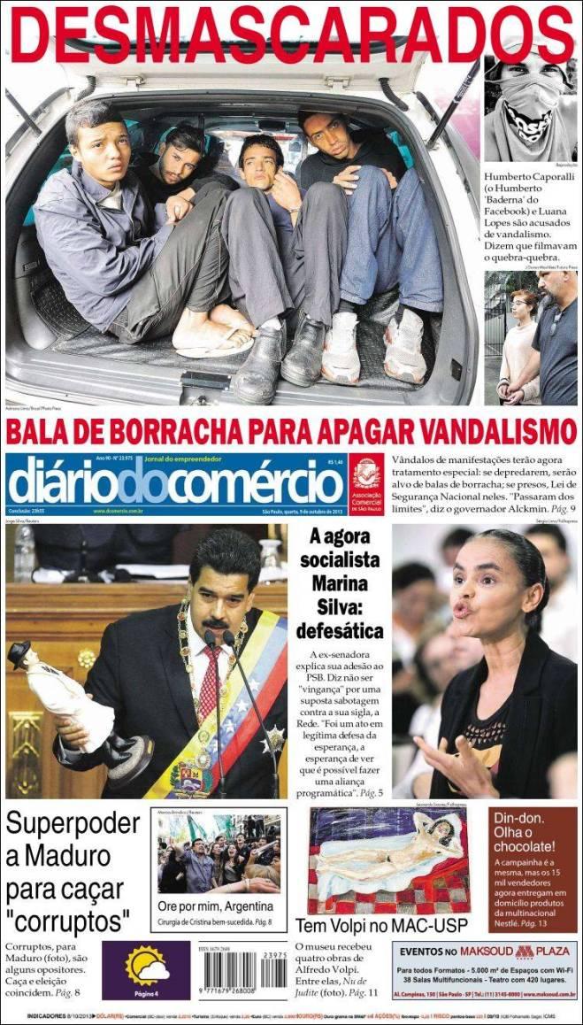 br_diario_comercio. balas de borracha