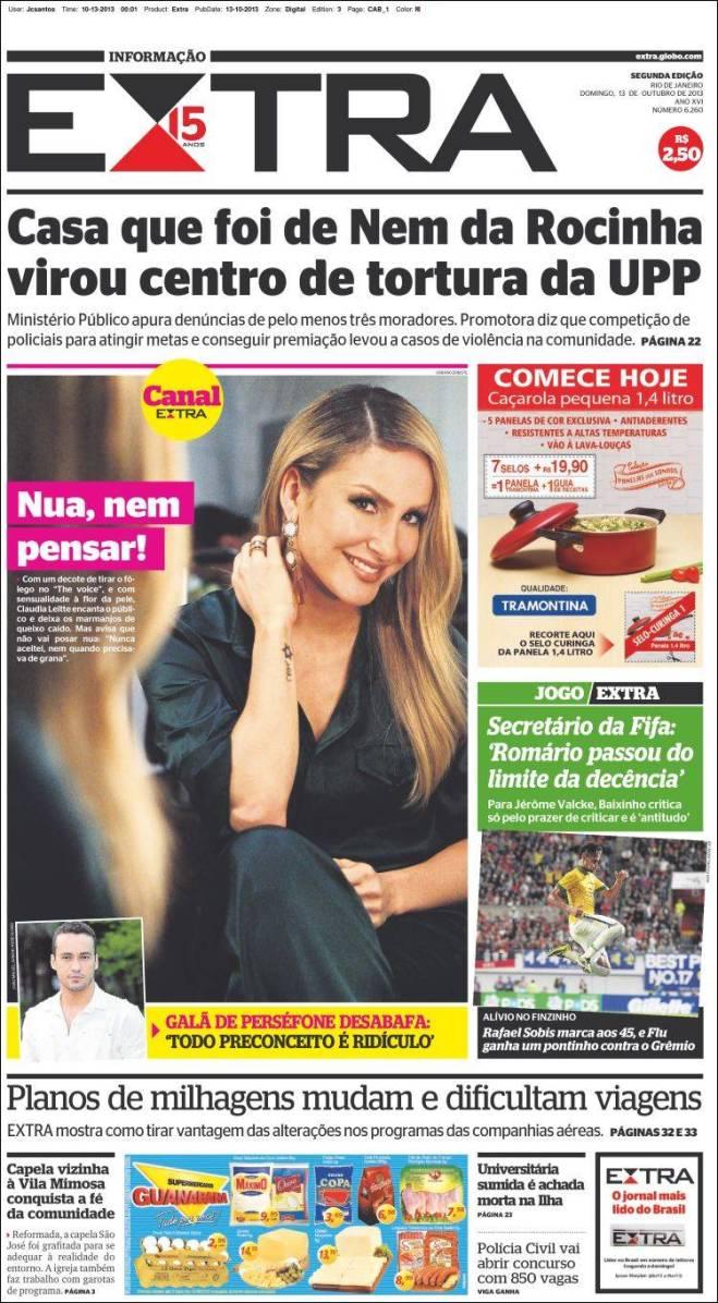 E o governador Sérgio Cabral garante que a Rocinha está pacificada, apesar dos Amarildos