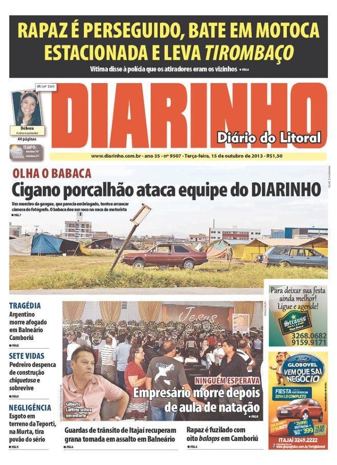 BRA^SC_DDL manchete racista