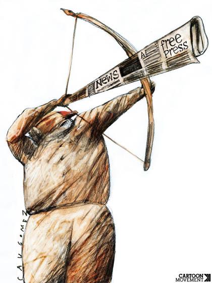 Resultado de imagem para jornalismo cassado ilustração