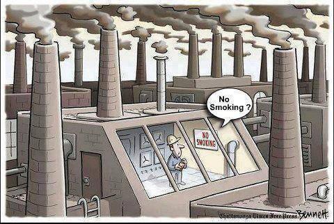 cigarro fumaça fábrica poluição