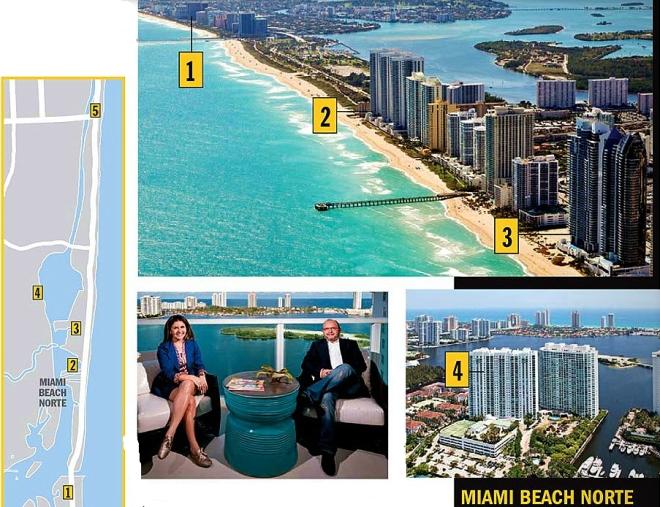 Miami Beach Norte (Detalhe do casal José Ribamar e Idalegugar, na varanda do novo apartamento no norte de Miami: em busca de um Rio de Janeiro com segurança). Clique na foto para ampliar