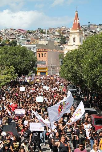 Passeata dos professores no Rio