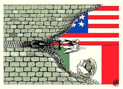 Muro que separa o México dos Estados Unidos
