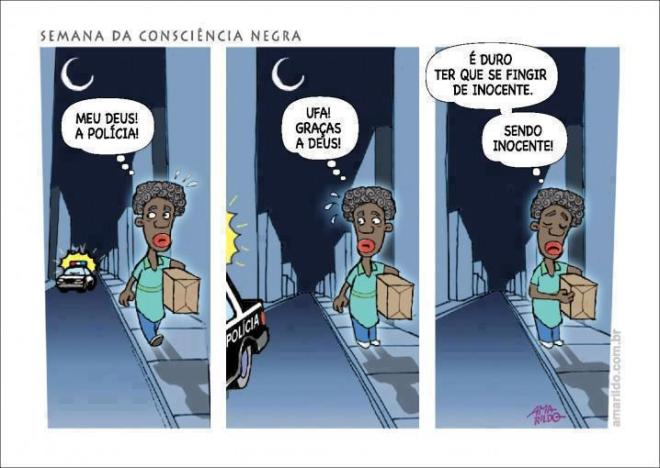 polícia indignados favela negro