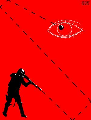 policia bala perdida indignados