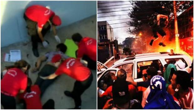 Morde do jovem Douglas Henrique de Oliveira, que caiu do viaduto José Alencar durante o protesto em Belo Horizonhte