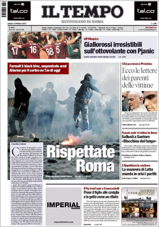 tempo. rispettate roma