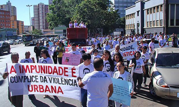 Um dos vários protestos realizados pelos jornalistas contra a impunidade em Goiás, terra da pistolagem