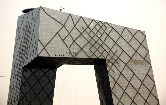 A sede da CCTV, em Pequim. Fotos David Gray
