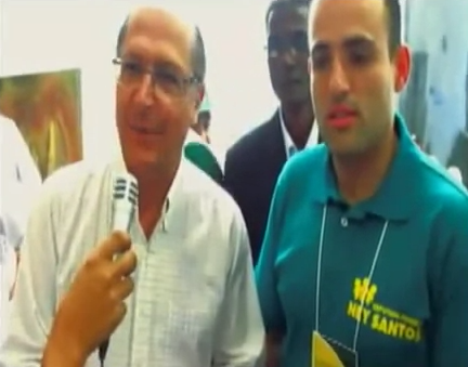 Ney Santos e Alckmin em dois  encontros