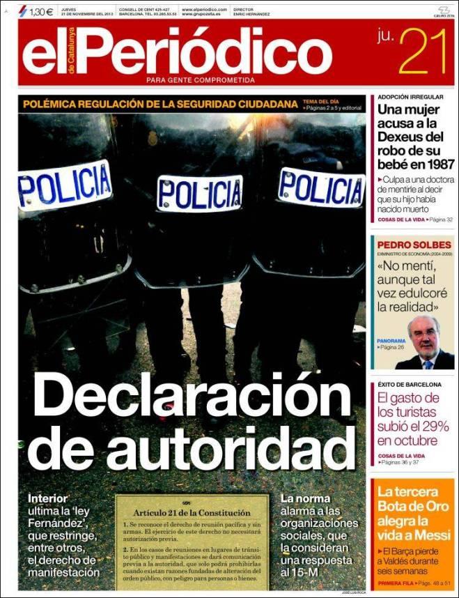elperiodico. polícia