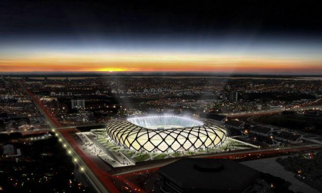 Croqui da Arena Amazônia, que está sendo construída em Manaus. / DIVULGAÇÃO GOVERNO DO AMAZONAS