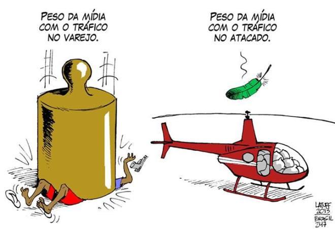 A imprensa brasileira e o tráfico de drogas, por Carlos Latuff
