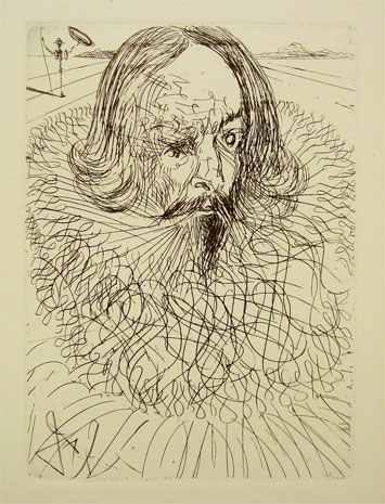 (Miguel de Cervantes por Salvador Dalí)