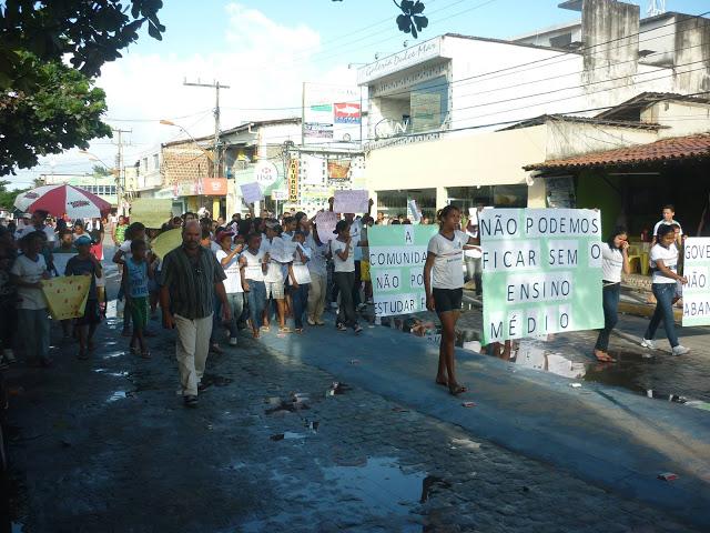 Protesto em Ipojuca