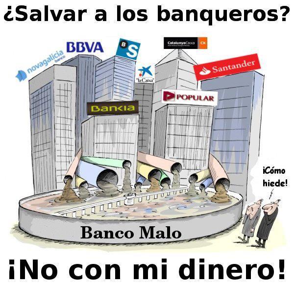 salvar bancos banqueiros indignados