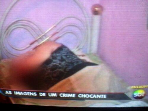Bernadete Oliveira da Silva, tia avó de Marcelo, no seu leito mortuário