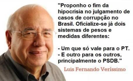 Veríssimo justiça PT PSDB tucano versus petista