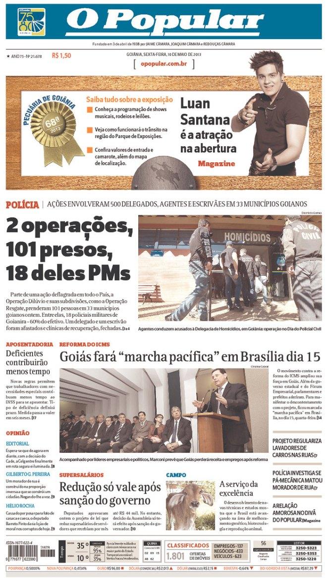 BRA_OP 101 presos em Goiânia