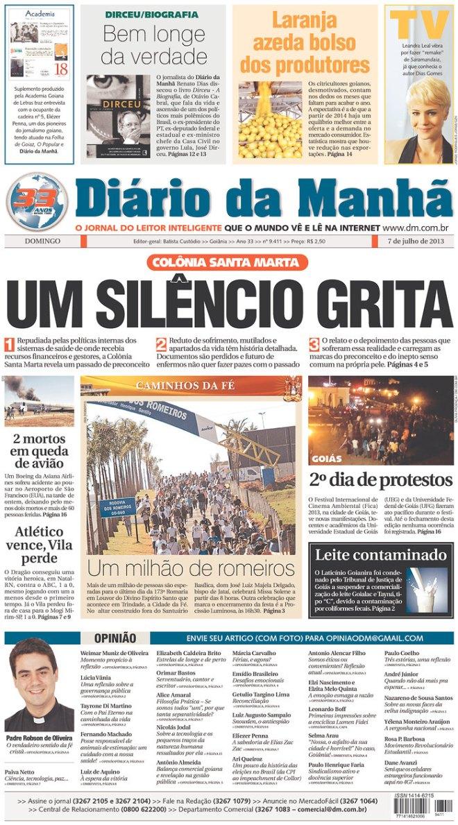 BRA^GO_DDM silêncio Colônia Santa Marta Goiânia