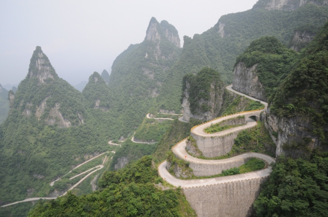 Tianmen Mountain Road – Hunan, China