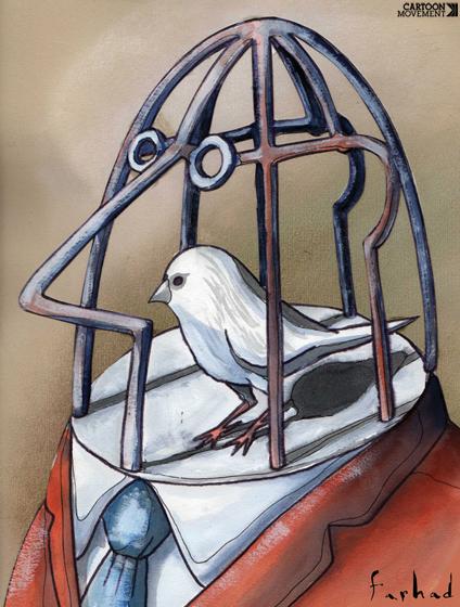 jornalista prisão pássaro