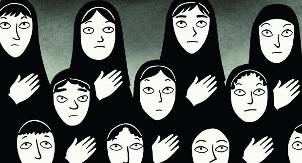 """Cena de """"Persépolis"""", animação autobiográfica dirigida por Marjane Satrapi"""
