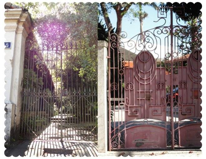 Detalhe dos belos portões em ferro dos casarões locais. Foto Ramona