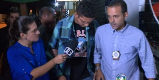 A Globo filmou a prisão e escondeu a namorada do porteiro