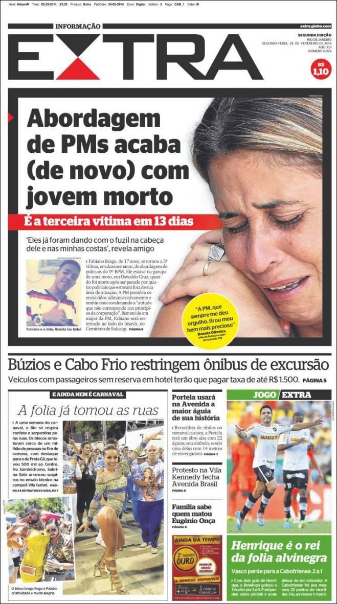 A POLÍCIA DE SÉRGIO CABRAL EM AÇÃO