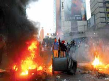 La avenida Francisco de Miranda fue víctima de la anarquía