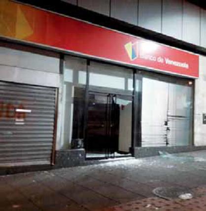 Así quedó la agencia del Banco de Venezuela