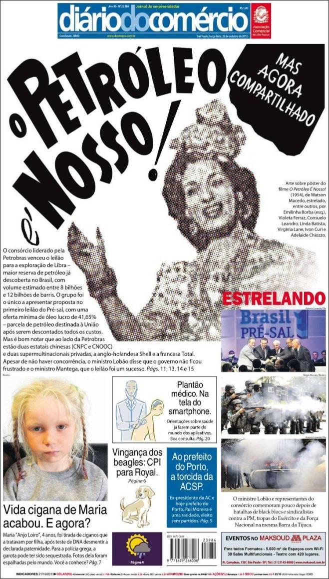 O slogan entreguista da imprensa brasileira