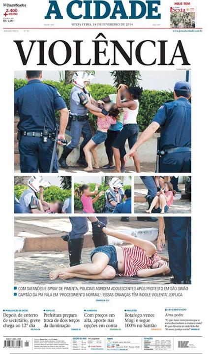polícia estudantes