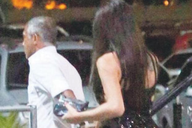 Romário e Thalita na noite do Rio