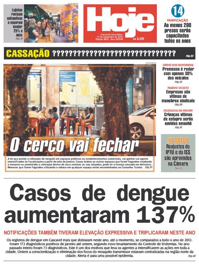 BRA_HOJE Cascavel dengue