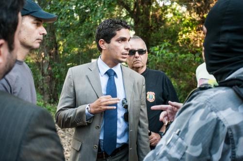 Delegado Paulo Cassiano Jr. esteve no conflito no campus da UFSC. Foto: Marco Santiago