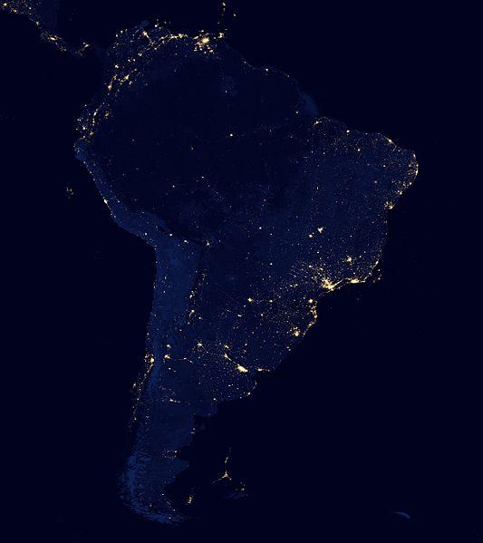 América do Sul noite
