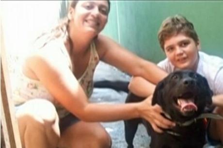 Andrea Regina e o filho Marcelo