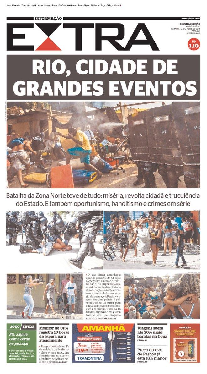 UMA BATALHA NA ZONA NORTE DO RIO. O PRENDE E ARREBENTA DA POLÍCIA VIROU EVENTO