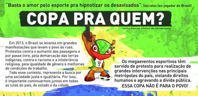 Copa futebol protesto Fifa